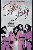 Sister Sledge poster designed by and courtesy of long time Chicago graphic artist Shelley Howard.