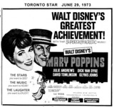 "TORONTO STAR AD FOR ""MARY POPPINS"" JACKSON SQUARE AND OTHER THEATRES"