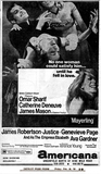 "DETROIT FREE PRESS AD FOR ""MAYERLING"" - AMERICANA THEATRE"