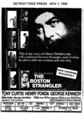 "AD FOR ""THE BOSTON STRAGLER"" LIVONIA MALL CINEMA 1 AND OTHER THEATRES"