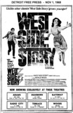 "AD FOR ""WEST SIDE STORY"" WOODS AND OTHER THEATRES"