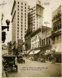 View of Peachtree Street with Tudor Theater at right.
