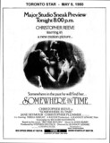 "AD FOR ""SOMEWHERE IN TIME"" YORK THEATRE"