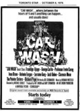 "AD FOR ""CAR WASH"" HUMBER AND YORK THEATRES"