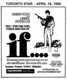 """AD FOR """"IF"""" - EGLINTON THEATRE"""
