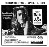 "AD FOR ""BELLE DE JOUR"" - NORTOWN THEATRE"