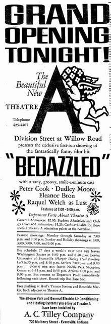 Grand opening as Theatre A from November 15th, 1968