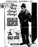 "AAD FOR ""THE GOLD RUSH - CHARLIE CHAPLIN"" EGLINTON THEATRE"