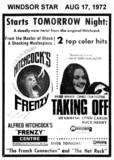 """AD FOR """"FRENZY and TAKING OFF"""" CENTRE THEATRE"""