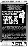 "AD FOR ""THE KING OF HEARTS"