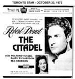 "AD FOR ""THE CITADEL"" THE CREST THEATRE"