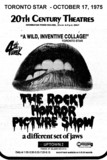 """AD FOR """"THE ROCKY HORROR PICTURE SHOW"""" - UPTOWN 2"""