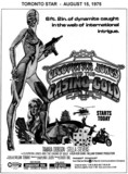 "AD FOR ""CLEOPATRA JONES AND THE CASINO OF GOLD"" SKYLINE AND OTHER THEATRE"