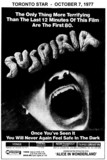 "AD FOR ""SUSPERIA"" YONGE THEATRE AND OTHERS"