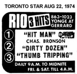AD FOR TRIPLE BILL AT THE RIO THEATRE