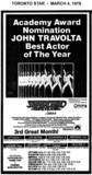"""AD FOR """"SATURDAY NIGHT FEVER"""" EGLINTON AND OTHER THEATRES"""