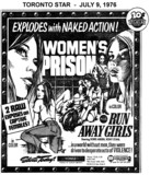 "AD FOR ""WOMEN'S PRISON"" YONGE THEATRE"