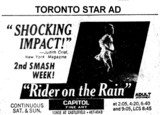 "AD FOR ""RIDER ON THE RAIN"" CAPITOL FINE ART THEATRE"