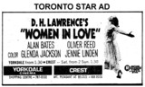 "AD FOR ""WOMEN IN LOVE"" CREST AND YORKDALE THEATRES"
