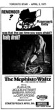"AD FOR ""MEMPHISTO WALTZ"" IMPERIAL THEATRE"