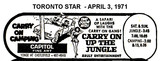 "AD FOR ""CARRY ON CAMPING & CARRY ON UP THE JUNGLE"" CAPITOL FINE ART THEATRE"