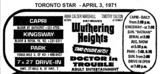 "AD FOR ""WUTHERING HEIGHTS & DOCTOR IN TROUBLE"" PARK AND OTHER THEATRES"