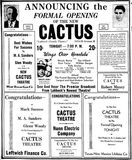 April 8th, 1938 grand opening ad