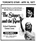 """AD FOR """"THE SLIPPER AND THE ROSE"""" FAIRLAWAN THEATRE"""