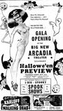 October 31st, 1946 grand opening ad for the Arcadia next door.