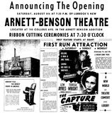 August 5th, 1950 grand opening ad