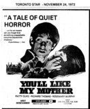 "AD FOR ""YOU'LL LIKE MY MOTHER"" HYLAND THEATRE"