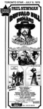 """AD FOR """"BUFFALO BILL AND THE INDIANS OR SITTING BULL'S HISTORY LESSON"""" PLAZA 1 THEATRE"""