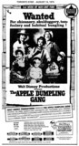 """AD FOR """"THE APPLE DUMPLING GANG"""" WESTWOOD AND OTHER THEATRES"""