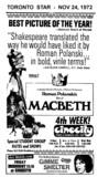 "AD FOR ""MACBETH"" CINECITY THEATRE"