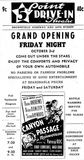 Grand opening ad as Five Point Drive-In from October 3rd, 1947