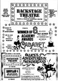 April 18th, 1973 grand opening ad as Back Stage