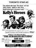 "AD FOR ""KELLY'S HEROES & THE STRANGER RETURNS"" SCARBORO DRIVE-IN AND OTHER THEATRES"