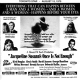 "AD FOR ""ONCE IS NOT ENOUGH"" YORKDALE AND OTHER THEATRES"