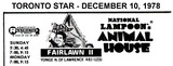 """AD FOR """"NATIONAL LAMPOON'S ANIMAL HOUSE"""" FAIRLAWN 2 THEATRE"""
