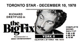 "AD FOR ""THE BIG FIX"" YORK 2 THEATRE"