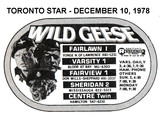 "AD FOR ""WILD GEESE"" FAIRVIEW 1 AND OTHER THEATRES"