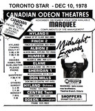 "AD FOR ""MIDNIGHT EXPRESS"" CENTRE TWIN (HAMILTON) AND OTHER THEATRES"