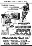 "AD FOR ""THE BAREFOOT EXECUTIVE"" YORKDALE AND OTHER THEATRES"