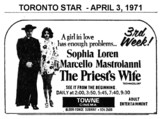 """AD FOR """"THE PRIEST'S WIFE"""" TOWNE CINEMA"""