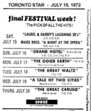"AD FOR ""FESTIVAL WEEK"" AT THE CREST THEATRE"