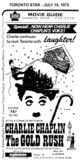 """AD FOR """"THE GOLD RUSH"""" JULY 15, 1972"""