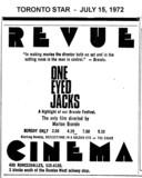 "AD FOR ""ONE EYED JACKS"" REVUE CINEMA"