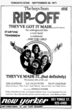 "AD FOR ""THE BOYS FROM RIP OFF"" NEW YORKER THEATRE"