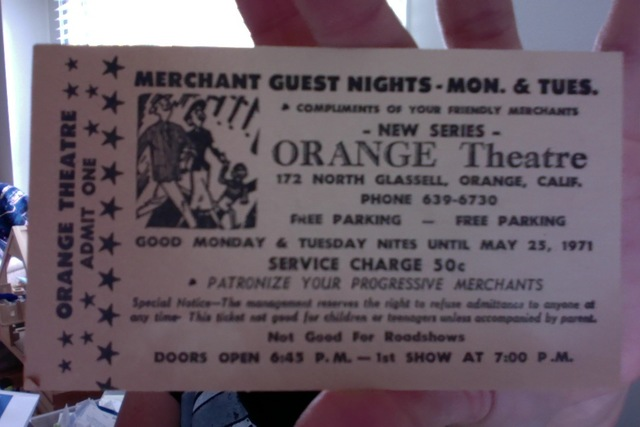 Ticket from 1971