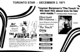 "AD FOR ""THE TOUCH & THE STATUE"" CEDARBRAE AND OTHER THEATRES"